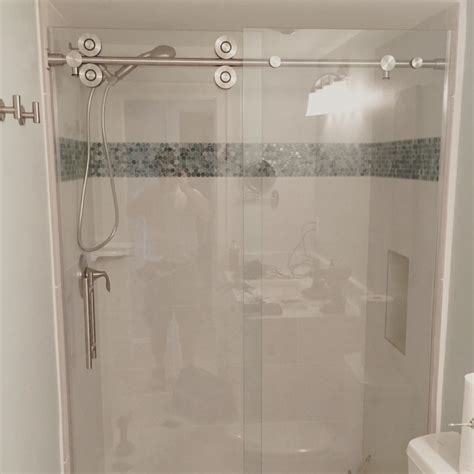 barn door style barn style glass shower doors the glass shoppe a