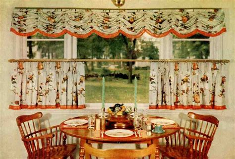 vintage style kitchen curtains 15 cafe curtain designs and ideas retro renovation