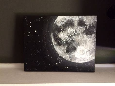 acrylic painting moon moon and acrylic painting 11x14 inches home accents