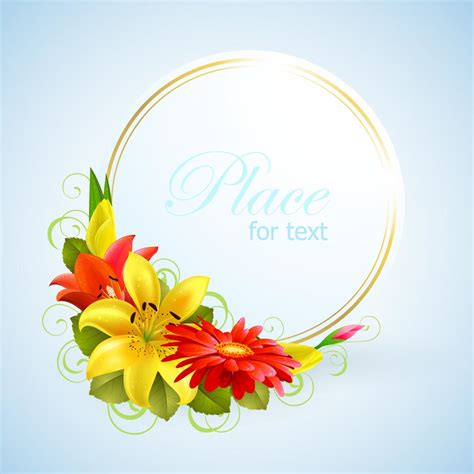 flowers for cards flower greeting cards 01 vector free vector 4vector