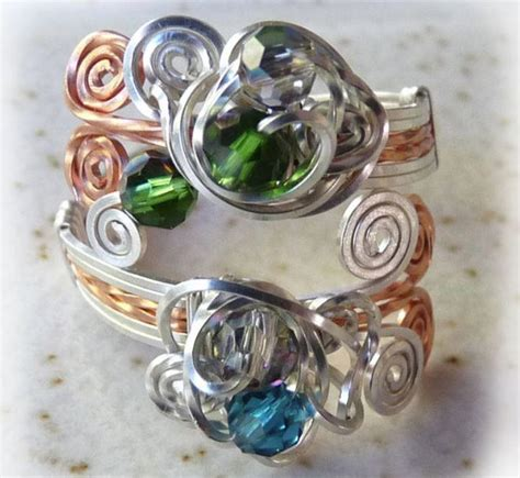 how to make rings out of wire and swirl wire ring allfreejewelrymaking