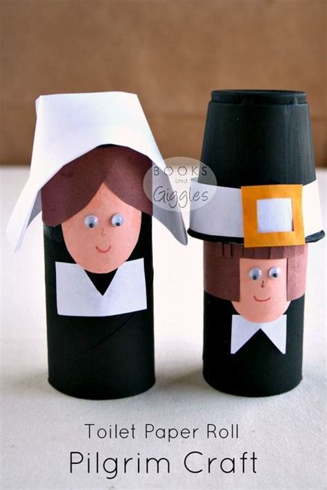 easy toilet paper roll crafts pilgrims toilets and kindergarten thanksgiving on