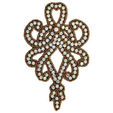 sequin bead applique rhinestone bead applique rhinestone patch ff v748