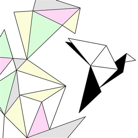 geometrical origami free bird a4 print geometric origami pastel