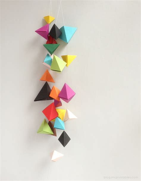 hanging origami decorations origami bipyramid tutorial what to do with them mr