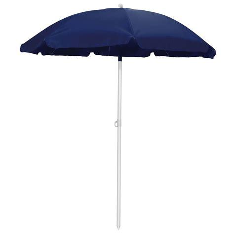 picnic time 5 5 ft patio umbrella in navy 822 00