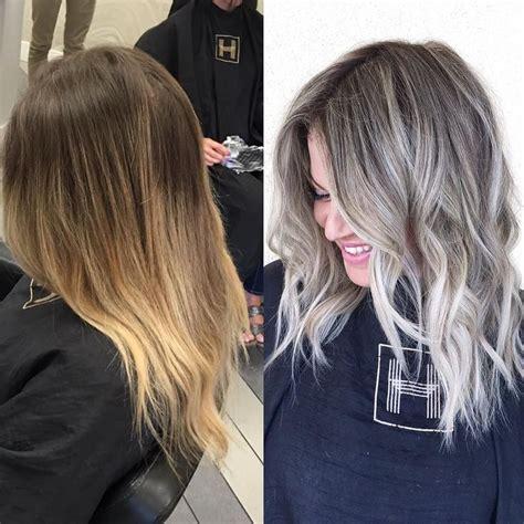 high lighted hair with gray roots de 25 bedste id 233 er inden for ash blonde p 229 pinterest