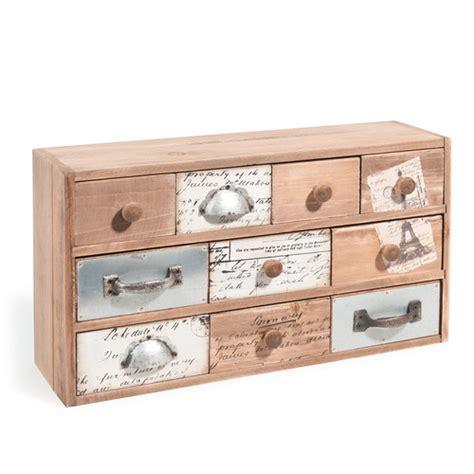 bo 238 te 10 tiroirs en bois h 22 cm rustique