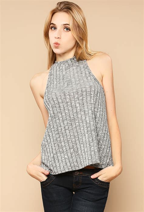 knitted halter top knit halter top shop gift ideas at papaya clothing