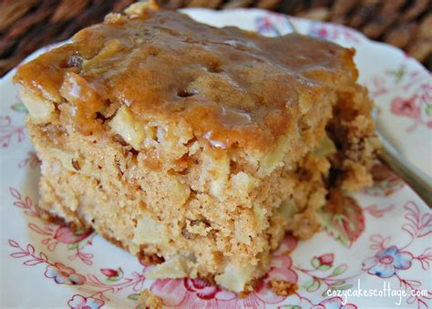 sugar for cakes apple cake with brown sugar glaze cozycakes cottage