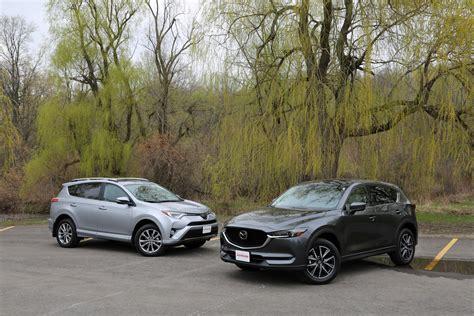 Mazda Cx 5 Compared To Honda Crv by 2017 Toyota Rav4 Vs 2017 Mazda Cx 5 Comparison Autoguide