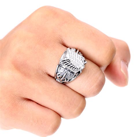 metal rings for jewelry attack on titan metal high quality jewelry rings fandom