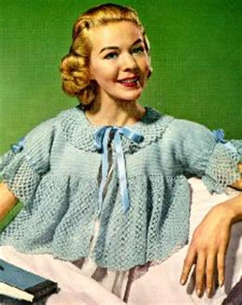 knitted bed jackets free patterns crochet bed jacket pattern from 1956 would make a really