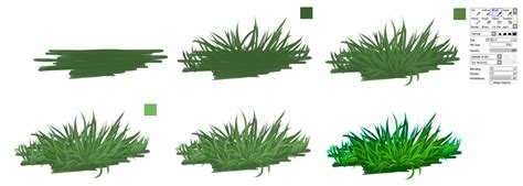 paint tool sai grass grass easy tutorial by ryky on deviantart