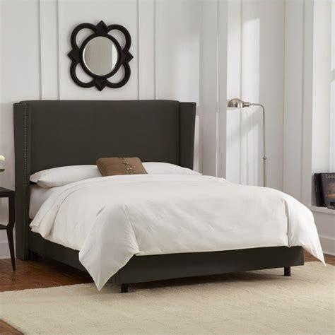 velvet bedroom furniture skyline furniture wingback bed in velvet pewter 45xgnbed