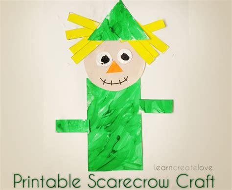 scarecrow craft for printable scarecrow craft