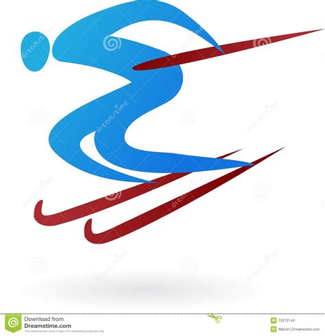 sport logo ski stock images image 13373144