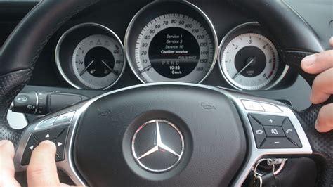 Mercedes C Service by Mercedes C Class W204 Service Light Reset 2007 2014