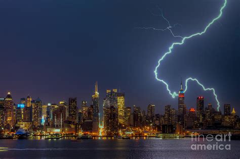 new york lightning new york city vii photograph by clarence