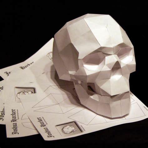paper craft skull paperskull skull skullsforchange sculpture studio