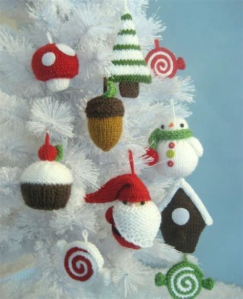 knit ornaments 12 knitting patterns for