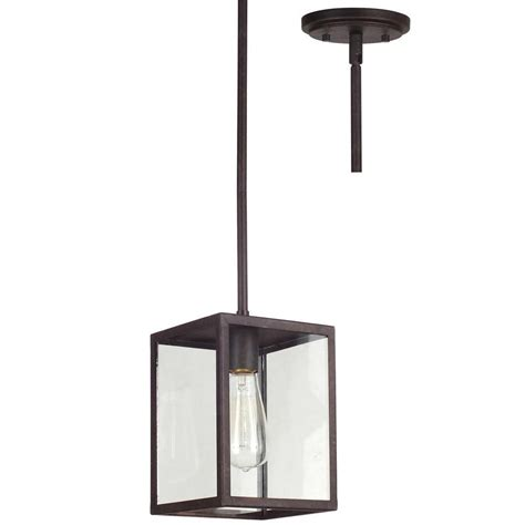 allen roth pendant light shop allen roth bristow 6 5 in w rubbed bronze