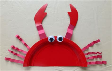 paper plate crab craft crafts