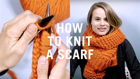 how to start knitting a scarf how to knit a scarf easy knitting tutorial for