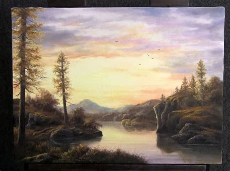 bob ross acrylic painting lesson do you enjoy the sunset kevin as he paints