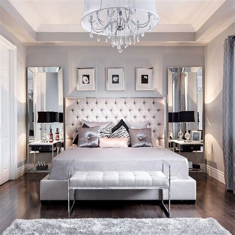 furniture design for small bedroom beautiful bedroom decor tufted grey headboard mirrored