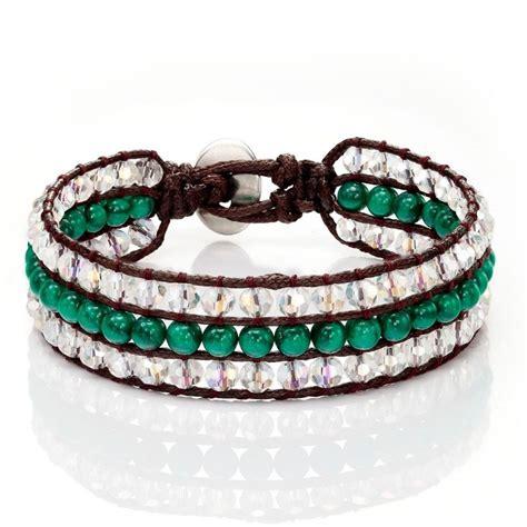 bead wrap bracelet handmade beaded wrap bracelet 3 rows green agate