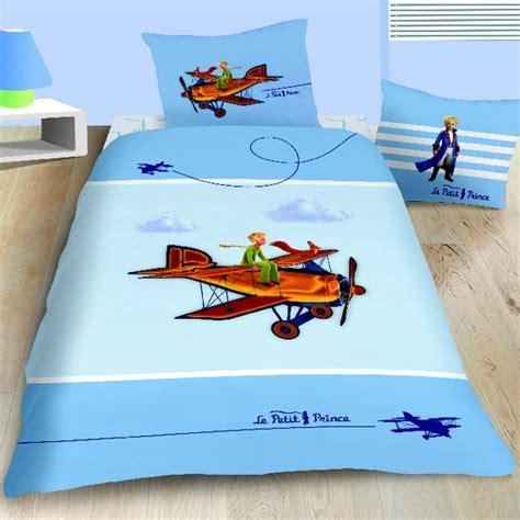 housse de couette le petit prince 140 x 200 cm parure de lit aviator decokids