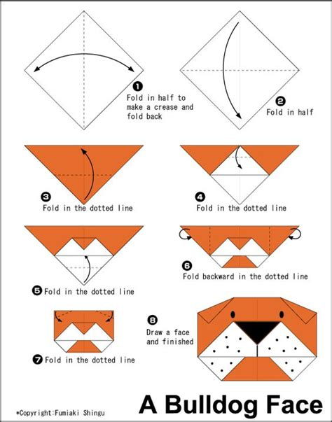origami monkey diagram origami bulldogog easy origami for