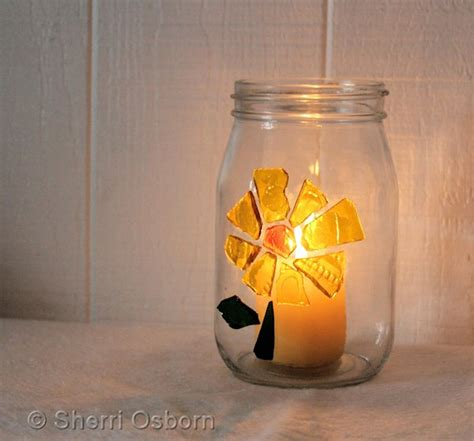 candle craft for how to make a stained glass candle holder craft