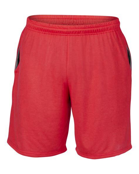 mens knit shorts new gildan performance mens elasticated waist jersey knit