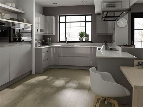 grey gloss kitchen cabinets remo contemporary curved gloss kitchen in grey