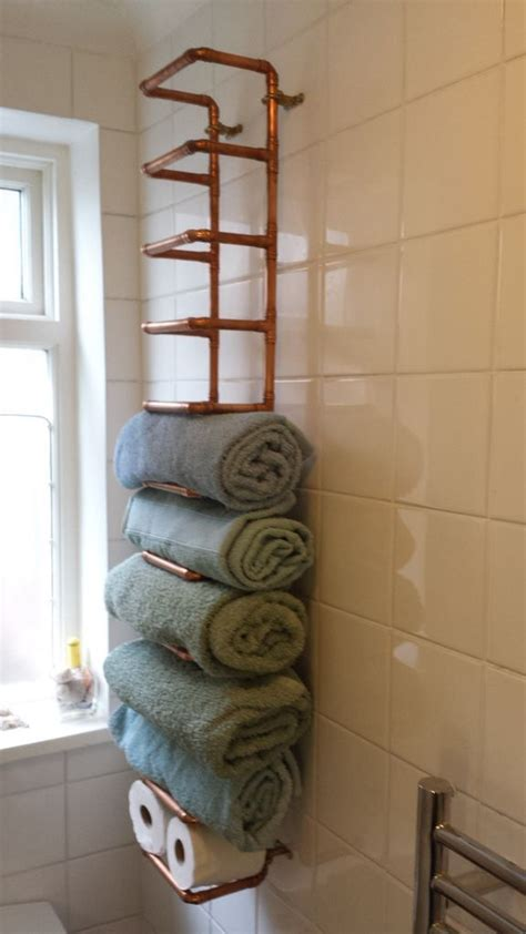 bathroom shelving ideas for towels tendencias en dise 241 o cobre