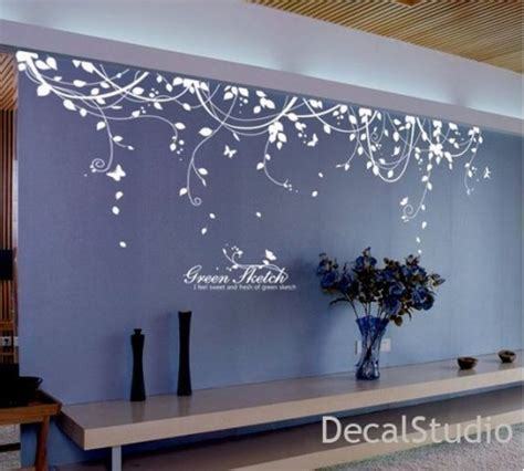 living room wall decals stickers white vinyl sticker wall decal for bedroom living room