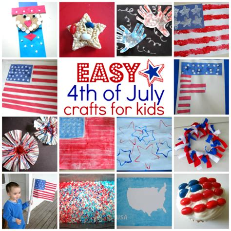 Easy 4th Of July Crafts For