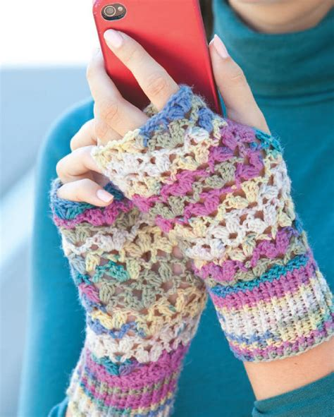 lace crafts projects one skein lace mitts national craft month project