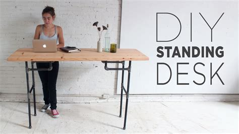 standing work desks diy plumbers pipe standing desk
