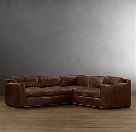 restoration hardware sectional sofa leather sectional restoration hardware haus
