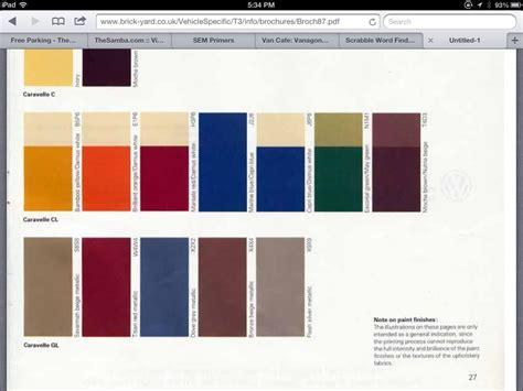 Volkswagen Colors by Vw Paint Colors Westy Project Paint Color