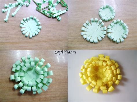 flowers from paper craft paper crafts paper chrysanthemums craft ideas
