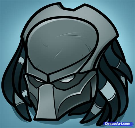easy drawing how to draw predator easy step by step aliens sci fi
