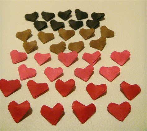 mini origami hearts mini cora 231 227 o origami 3d lucky hearts arteir 237 ssimo elo7