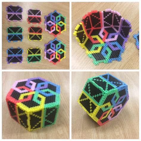3d perler perler 3 d box perler bead projects