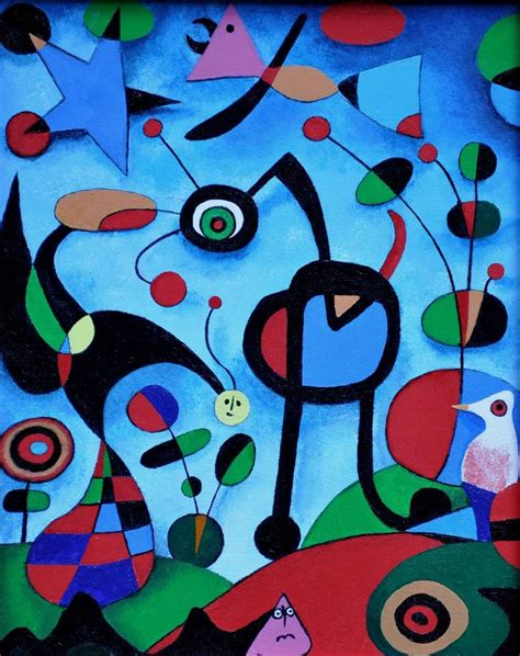Der Garten Miro by Cuadro Moderno El Jard 237 N Joan Mir 243 80x100cm 898 00