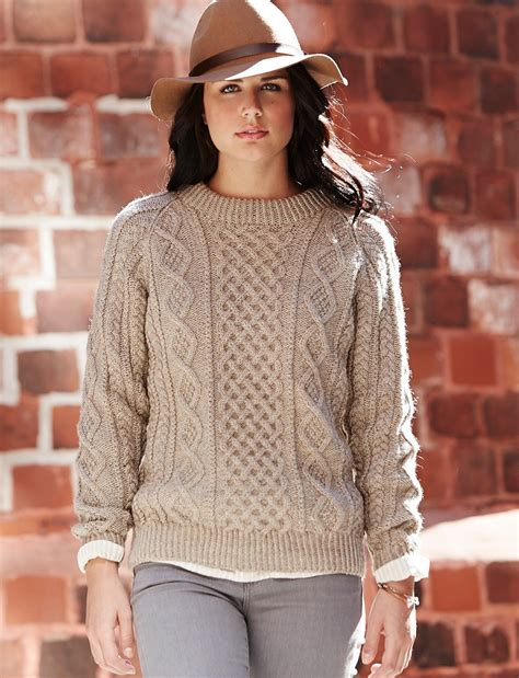 free knitted sweater patterns oats and honeycomb cabled pullover allfreeknitting