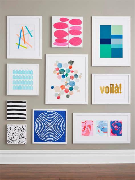 modern craft projects 9 easy diy wall ideas hgtv